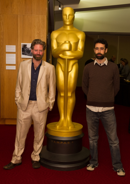 "Sam French (left) and Ariel Nasr (right), co-directors of the Oscar®-nominated live action short film ""Buzkashi Boys"". Credit: Darren Decker / ©A.M.P.A.S."