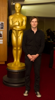 "Shawn Christensen, director of the Oscar®-nominated live action short film ""Curfew"". Credit: Darren Decker / ©A.M.P.A.S."