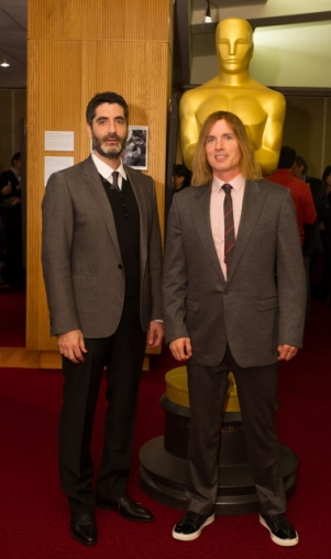 "Mino Jarjoura (left) and Bryan Buckley (right), co-directors of the Oscar®-nominated live action short film ""Asad"". Credit: Darren Decker / ©A.M.P.A.S."