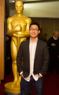 "Minkyu Lee, director of the Oscar®-nominated animated short film ""Adam and Dog"". Credit: Darren Decker / ©A.M.P.A.S."
