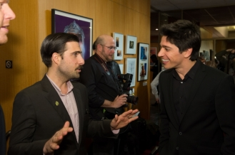 "Host Jason Schwartzman (left); and Yan England director of the Oscar®-nominated live action short film ""Henry"" (right). Credit: Darren Decker / ©A.M.P.A.S."