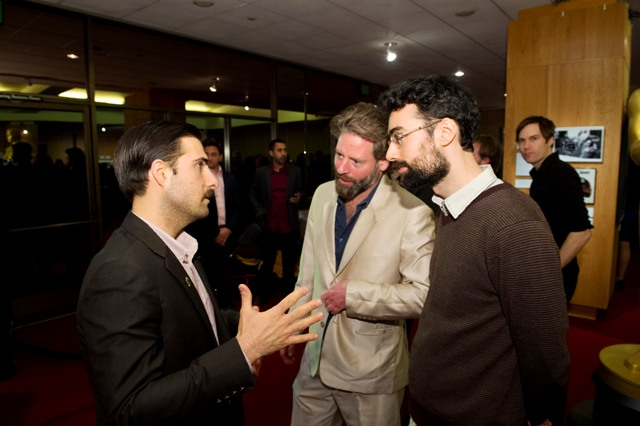 Host Jason Schwartzman (left); Sam French (center) and Ariel Nasr (right). Credit: Darren Decker / ©A.M.P.A.S.