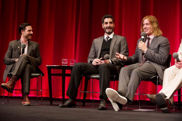 "Host Jason Schwartzman; Mino Jarjoura and Bryan Buckley co-directors of the Oscar®-nominated live action short film ""Asad"". Credit: Greg Harbaugh / ©A.M.P.A.S."