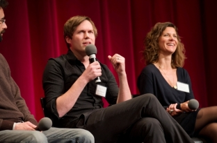 "Shawn Christensen, director of the Oscar®-nominated live action short film ""Curfew"" and Ellen De Waele, co-director of the Oscar®-nominated live action short film ""Death of a Shadow. Credit: Greg Harbaugh / ©A.M.P.A.S."