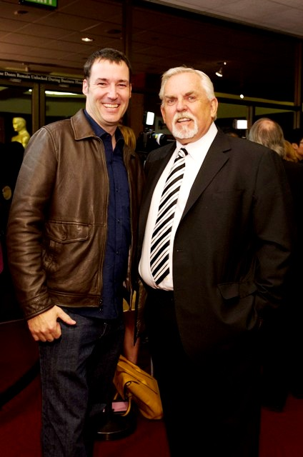 """Mark Andrews, of the Oscar®-nominated Animated Feature """"Brave"""" and Actor John Ratzenberger. Credit: Darren Decker / ©A.M.P.A.S."""