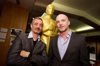 """Sam Fell (left) and Chris Butler (right), of the Oscar®-nominated Animated Feature """"Paranorman"""". Credit: Darren Decker / ©A.M.P.A.S."""