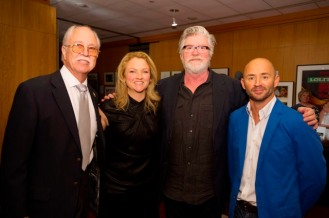 "(From left to right) Host Leonard Engelman with Oscar® Makeup Artists and Hairstylists Nominees Tami Lane, Peter Swords King and Rick Findlater ""The Hobbit: An Unexpected Journey"" Credit: Matt Petit / ©A.M.P.A.S."