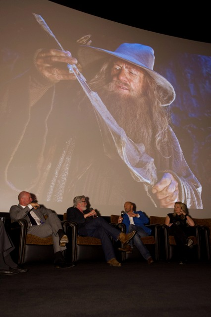 "(From left to right) Host Leonard Engelman and actor Graham McTavish with Oscar® Makeup Artists and Hairstylists Nominees Peter Swords King, Rick Findlater and Tami Lane, ""The Hobbit: An Unexpected Journey"". Credit: Matt Petit / ©A.M.P.A.S."