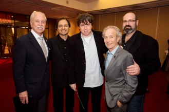 "Host Leonard Engelman with Oscar® Makeup Artists and Hairstylists Nominees Peter Montagna, ""Hitchcock"", Director Sacha Gervasi, ""Hitchcock"", Martin Samuel, ""Hitchcock"", and Howard Berger, ""Hitchcock"", Credit: Matt Petit / ©A.M.P.A.S."