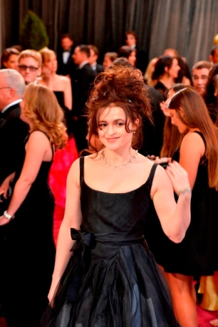 Actress Helena Bonham Carter arrives at the Oscars at Hollywood & Highland Center on February 24, 2013 in Hollywood, California.