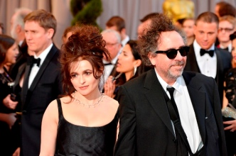Actress Helena Bonham Carter and husband, Director Tim Burton arrive at the Oscars at Hollywood & Highland Center on February 24, 2013 in Hollywood, California.