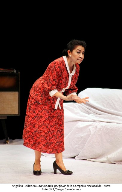 Angelina Peláez, actriz de número de la Compañía Nacional de Teatro