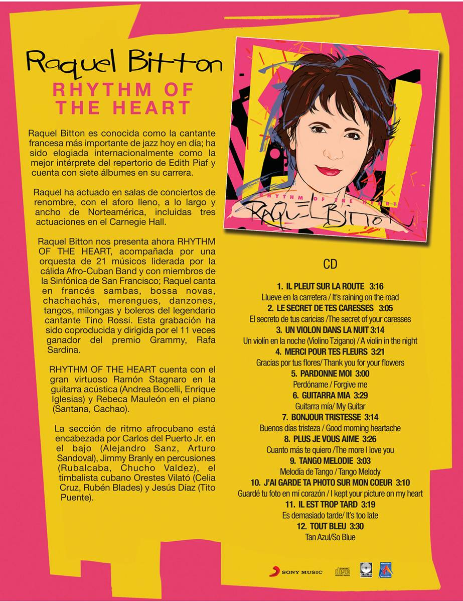 RAQUEL BITTON - NOTAS - TRACKLIST CD - SONY MUSIC