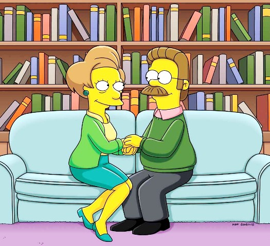 simpson edna y ned