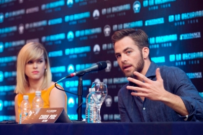 ALICE EVE - CHRIS PANE - STAR TREK - CONFERENCIA DE PRENSA - MEXICO