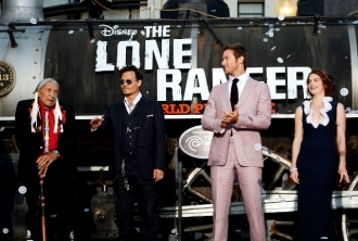 0106 - JOHNNY DEPP - ARMIE HAMMER - RUTH WILSON - THE LONE RANGER - RED CARPET - DISNEY - CALIFORNIA