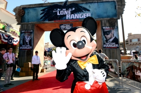 012 - the lone ranger - red carpet - california - mickey mouse