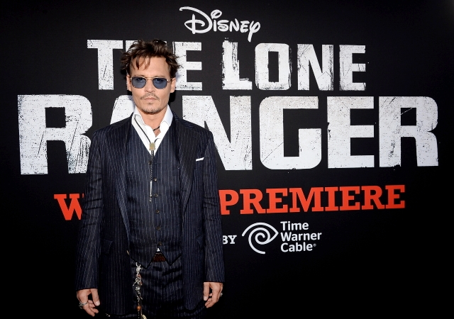 04 - JOHNNY DEPP - THE LONE RANGER - RED CARPET - DISNEY - CALIFORNIA