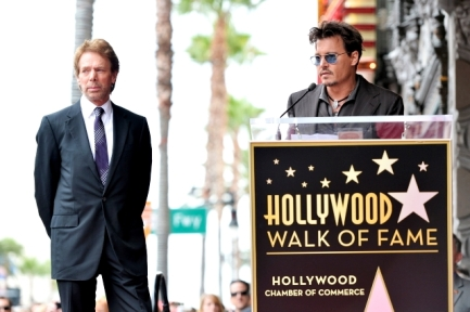 053- JERRY BRUCKHEIMER - JOHNNY DEPP - HOLLYWOOD WALK OF FAME