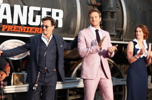 054 - JOHNNY DEPP - ARMIE HAMMER - RUTH WILSON - RED CARPET - THE LONE RANGER - DISNEY - CALIFORNIA