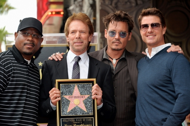 064- JERRY BRUCKHEIMER - JOHNNY DEPP - TOM CRUISE - HOLLYWOOD WALK OF FAME
