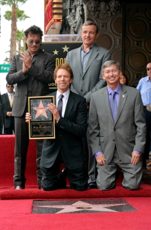 066- JERRY BRUCKHEIMER - JOHNNY DEPP - HOLLYWOOD WALK OF FAME