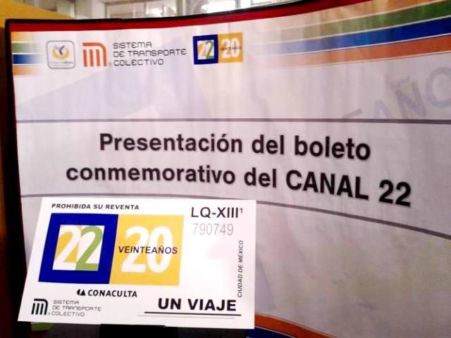 Canal 22_Boleto conmemorativo