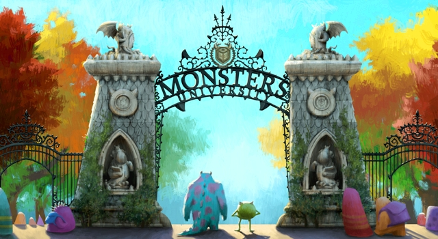 """""""MONSTERS UNIVERSITY""""   Concept art.  ©2012 Disney/Pixar. All Rights Reserved"""