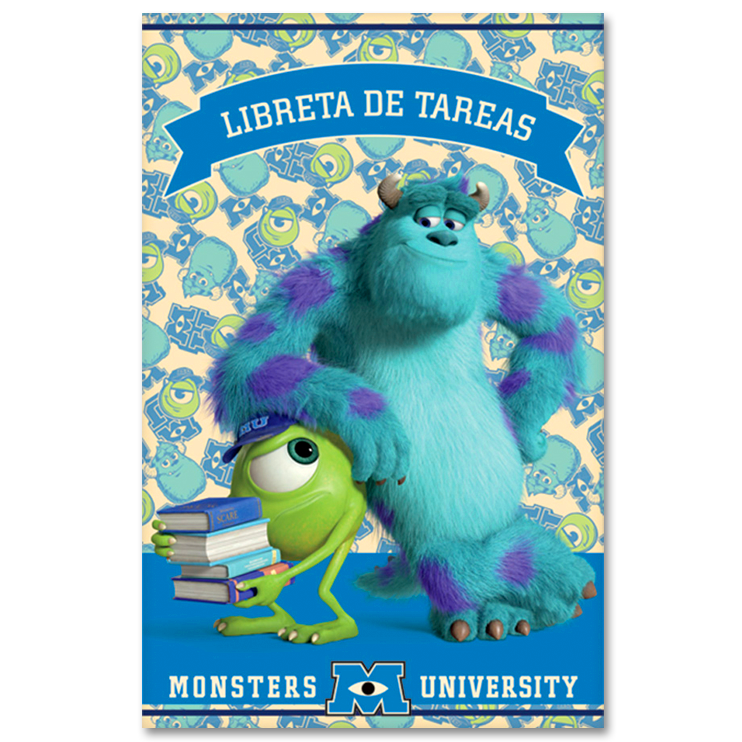 LIBRETA DE TAREAS - MONSTERS UNIVERSITY