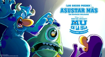 MUParty-- MONSTERS UNIVERSITY - CLUB PENGUIN - POSTER