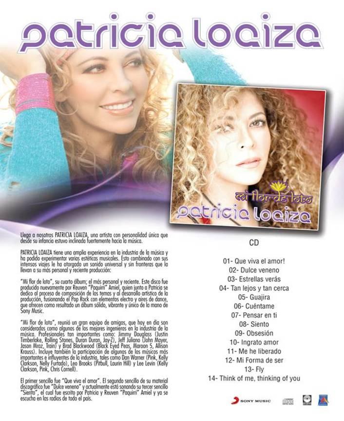 PATRICIA LOAIZA - TRACKLIST - FLOR DE LOTO - ALBUM