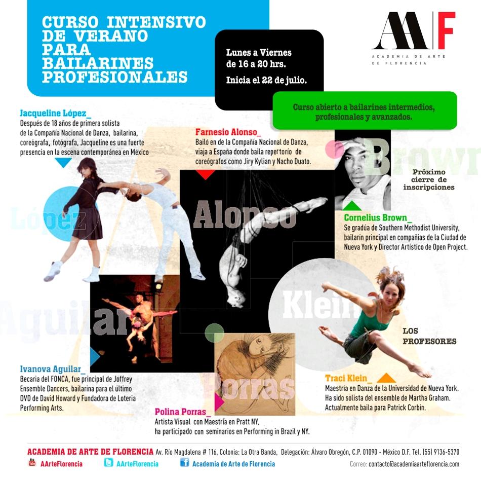 academia de arte de florencia - curso intensivo de verano para bailarines profesionales