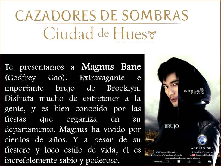 magnus bane - cazadores de sombras - movie