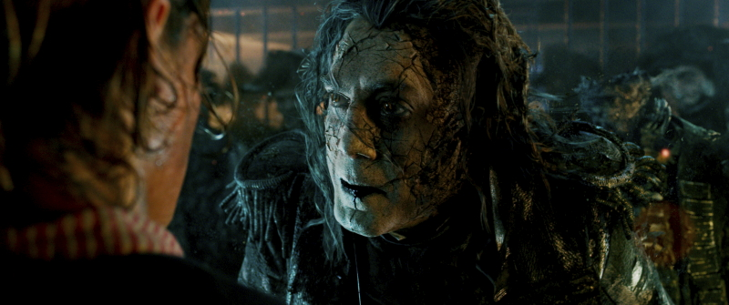 """""""PIRATES OF THE CARIBBEAN: DEAD MEN TELL NO TALES"""" The villainous Captain Salazar (Javier Bardem) pursues Jack Sparrow (Johnny Depp) as he searches for the trident used by Poseidon. ©Disney Enterprises, Inc. All Rights Reserved."""
