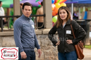 Rose Byrne and Mark Wahlberg in Instant Family from Paramount Pictures.