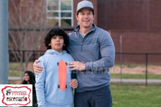 Gustavo Quiroz and Mark Wahlberg in Instant Family from Paramount Pictures.