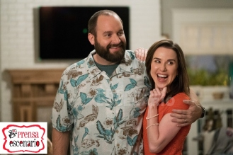 Tom Segura and Allyn Rachel in Instant Family from Paramount Pictures.