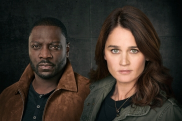 "THE FIX ABC's ""The Fix"" stars Adewale Akinnuoye Agbaje as Sevvy Johnson, and Robin Tunney as Maya Travis. (ABC/Ed Herrera)"
