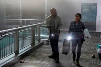 Lennie James as Morgan Jones, Karen David as Grace - Fear the Walking Dead _ Season 5, Episode 10 - Photo Credit: Van Redin/AMC