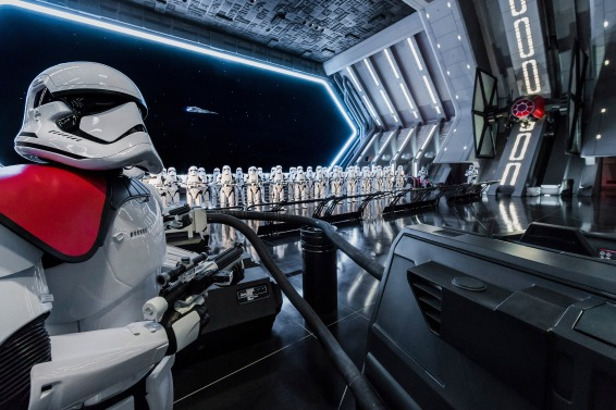 RISE OF THE RESISTANCE Disney guests will traverse the corridors of a Star Destroyer and join an epic battle between the First Order and the Resistance – including a face off with Kylo Ren – when Star Wars: Rise of the Resistance opens Dec. 5, 2019 at Walt Disney World Resort in Florida and Jan. 17, 2020 at Disneyland Resort in California. At 14 acres each, Star Wars: Galaxy's Edge at Disneyland Park and Disney's Hollywood Studios is Disney's largest single themed land expansion ever. (Joshua Sudock/Disney Parks)