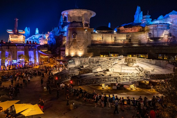 Before sunrise Thursday, Aug. 29, 2019, thousands of guests arrived at Disney's Hollywood Studios at Walt Disney World Resort in Lake Buena Vista, Fla., for the grand opening of Star Wars: Galaxy's Edge. The park opened early to surprise and delight guests excited to experience the land on opening day. (Matt Stroshane, photographer)