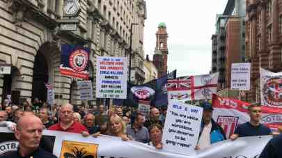 DFLA March in Manchester, UK