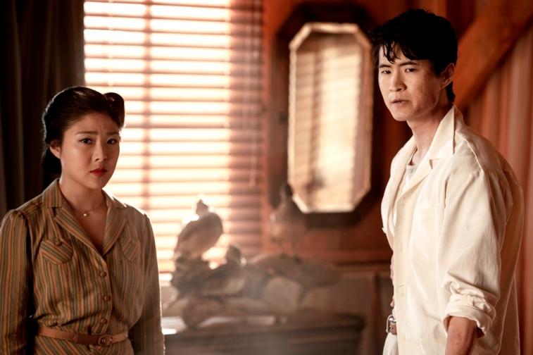 Miki Ishikawa as Amy Yoshida, Christopher Naoki Lee as Ken Uehara The Terror Season 2, Episode 7 Photo Credit: Ed Araquel/AMC