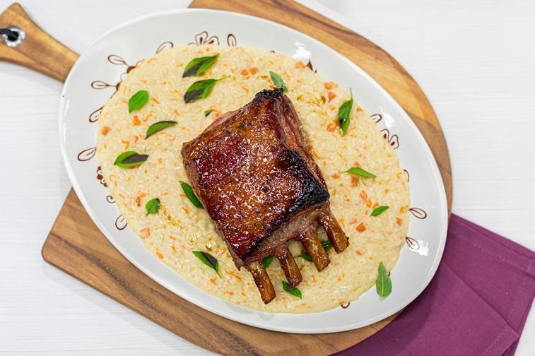elgourmet menuparatodoslosdias t3 rack de cerdo con maple al horno y risotto