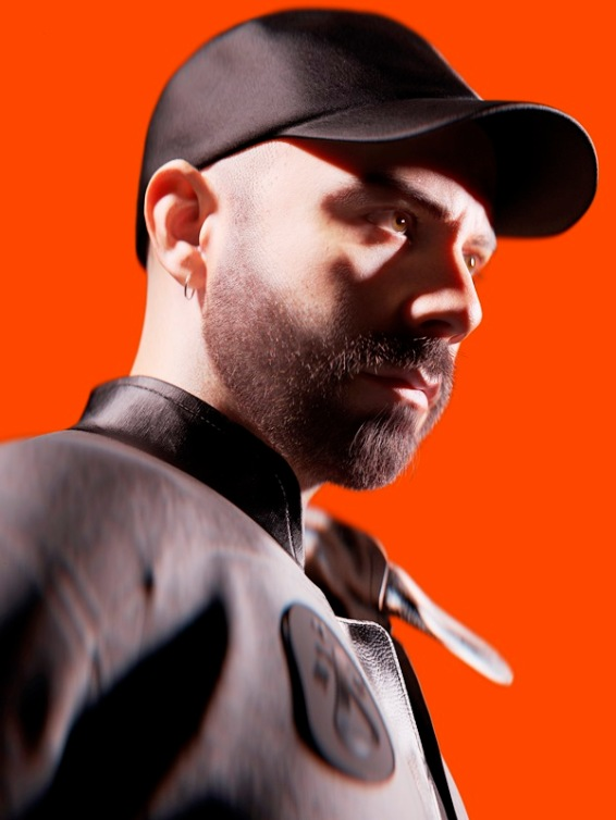 WOODKID_FACE_PORTRAIT_RED_BACKGROUND