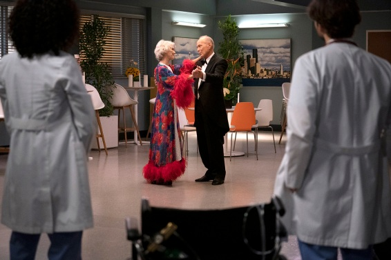 """GREY'S ANATOMY """"Save the Last Dance for Me"""" DeLuca can't figure out what's going on with his incurable patient Suzanne and he turns to a diagnostics genius, Dr. Riley from UCSF, for help. Bailey checks in on Joey, a foster kid that Ben brought into Grey Sloan. Meanwhile, Amelia is getting the results of her paternity test and Jo confronts her about how she is treating Link on an all new episode of """"Grey's Anatomy,"""" THURSDAY, FEB. 13 (9:00 10:01 p.m. EST), on ABC. (ABC/Ali Goldstein) SHANNON WILCOX, GEORGE GERDES"""