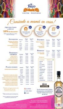 flyer menu madres