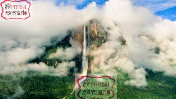 Picture Shows: Screen grab. Almost one kilometre from top to bottom, Angel falls are the tallest single-drop waterfalls in the world. At the end of the wet season in central Venezuela the falls are at their fullest and cloaked in swirling clouds.