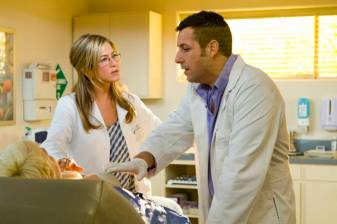 Jennifer Aniston (left) and Adam Sandler star in Columbia Pictures' comedy JUST GO WITH IT.